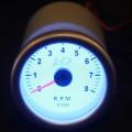 Td Autós sport Műszer fordulatszám mérő fehér hátterű OR-LED7705