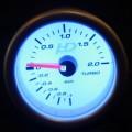 Td Autós sport Műszer turbónyomás mérő fehér hátterű OR-LED7707