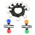 Brennenstuhl 1175292 LED party fényfüzér IP44 1,5+8,5m kábellel, 10xE27 színes led