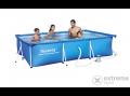 Bestway amalfi szögletes fémvázas medence szett vízforgatóval, 300x201x66 cm