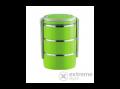VICTOR V-FH073 3 részes rozsdementes ételhordó, zöld