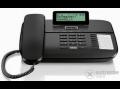 Gigaset DA710 vezetékes telefon kijelzővel, fekete