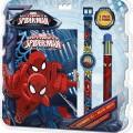 Pókember , Spiderman Napló + 6 színű toll + karóra