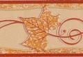 Puder-narancs szőlő levél mintás bordűr