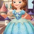 Szófia Disney fürdőlepedő strand törölköző kék