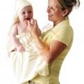 ClevaMama babatörölköző krém színű