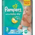 PAMPERS Active Baby -Dry pelenka midi 90-db-os 3