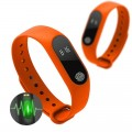 Smart Watch M2 aktivitásmérő sport okoskarkötő narancs