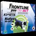 Frontline Tri-Act rácsepegtető oldat M kutyának 10-20 kg 3x2ml