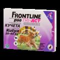 Frontline Tri-Act rácsepegtető oldat L kutyának 20-40 kg 3x4ml
