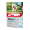Advantix rácsepegtető oldat 4-10 kg közötti kutyának 4x