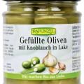 Rapunzel bio Fokhagymával töltött oliva, 190 g