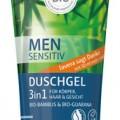 Lavera Men Férfi Sensitiv 3in1 tusfürdő és sampon, 200 ml