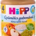 Hipp bébiétel, alma-szőlő rizzsel 190 g