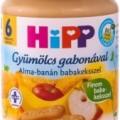 Hipp bébiétel, alma-banán babakeksszel 190 g