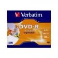 Verbatim DVD+R 4.7GB 16x Írható DVD lemez nyomtatható (43508)
