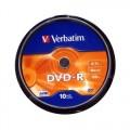 Verbatim DVD-R 4.7GB 16x Írható DVD lemez (10db) (43523)