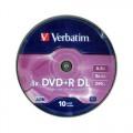 Verbatim DVD+R DL 8.5GB 8x Írható DVD lemez (10db) (43666)