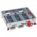 LEGRAND 18 (3x6) modulos, horizontális, állítható magasságú standard padlódoboz, Mosaic-kal szerelvényezhető 088021