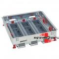 LEGRAND 24 (3x8) modulos, horizontális, állítható magasságú standard padlódoboz, Mosaic-kal szerelvényezhető 088022