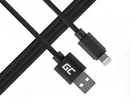 Green Cell Lighting-USB nylon kábel Apple iPhone iPad 1m
