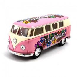 Kinsmart Volkswagen Classical Busz 1962 virágos