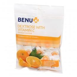 BENU szőlőcukor C-vitaminnal narancs ízű rágótabletta 28x